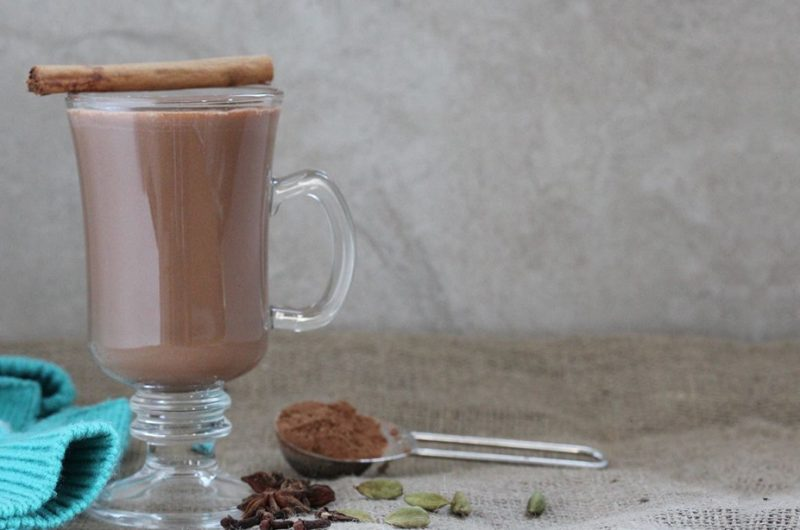 Warming Chai Spiced Hot Chocolate