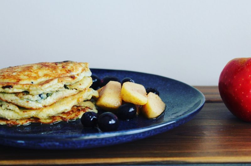 Gluten Free Apple and Blueberry Pancakes