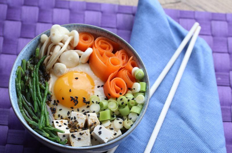 Quick and easy nourishing miso bowl