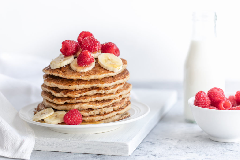 Banana and Coconut Whole Wheat Pancakes_Horizontal