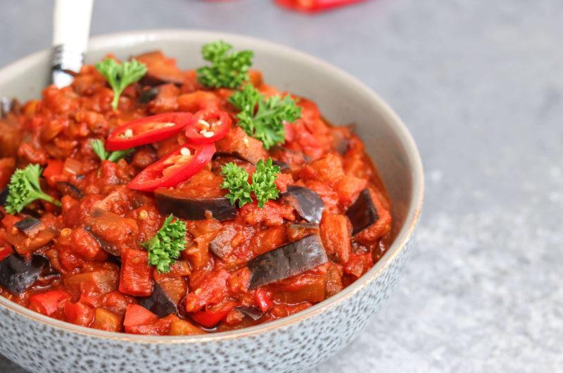 Smoked Aubergine Stew